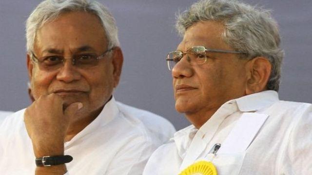 नीतीश कुमार और सीताराम येचुरी