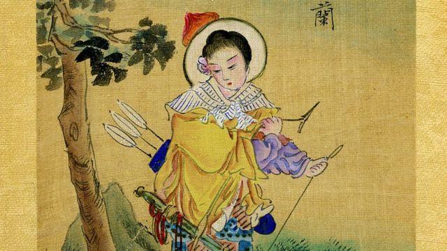 Hua Mulan, a Chinese handpainted album on silk, late 19th century