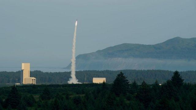 """Испытания израильской противоракетной системы """"Хец-3"""" на Аляске"""