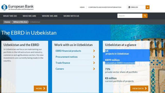 Европа Тикланиш ва Тараққиёт банки вакиллари Ўзбекистонга сафар қилган.