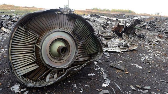 Место крушения MH17