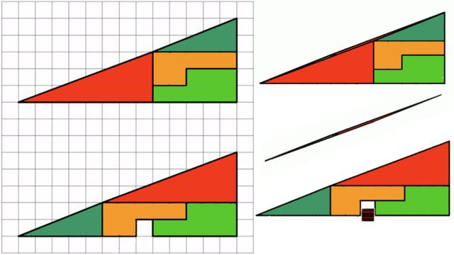 Paradoja del cuadrado perdido