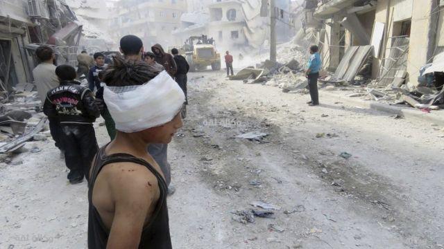 دمار في حلب