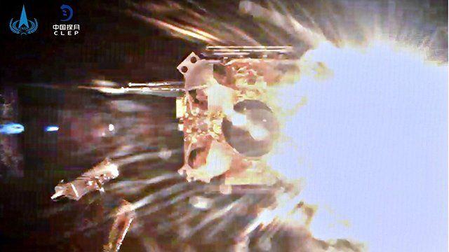 嫦娥五號帶著寶貴的月球樣品衝向月球軌道。