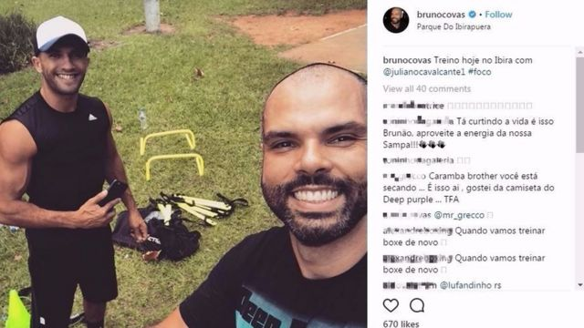 Postagem de Bruno Covas no Instagram mostra treino no Ibirapuera