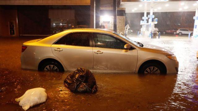 Fuertes lluvias en Nueva York