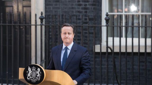 O primeiro-ministro, David Cameron, que após a derrota anunciou que deixará o cargo até outubro