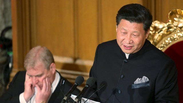 Xi Jinping and Prince Andrew