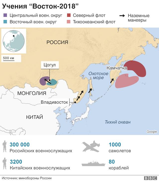 """Карта учений """"Восток-2018"""""""