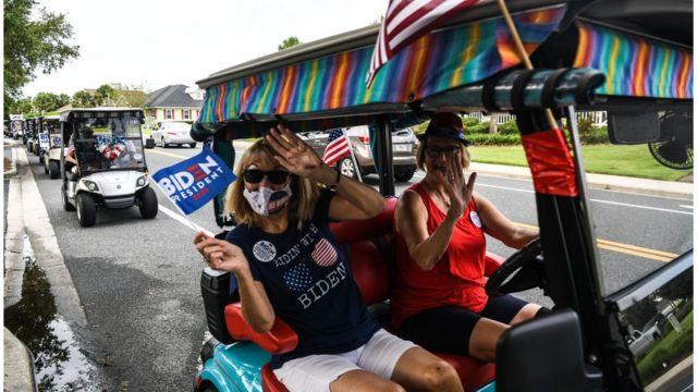A motocicleta de Biden na Flórida