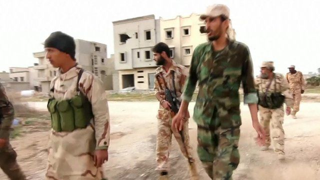 Libyan army soldiers