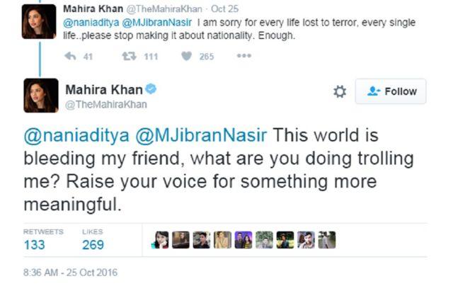 माहिरा खान ट्विटर पोस्ट