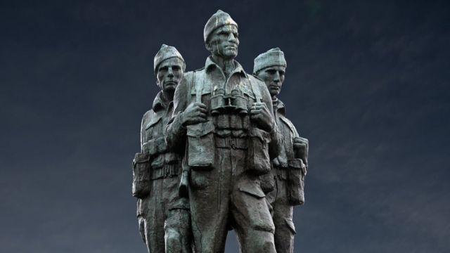 Памятник британским коммандос в Шотландии