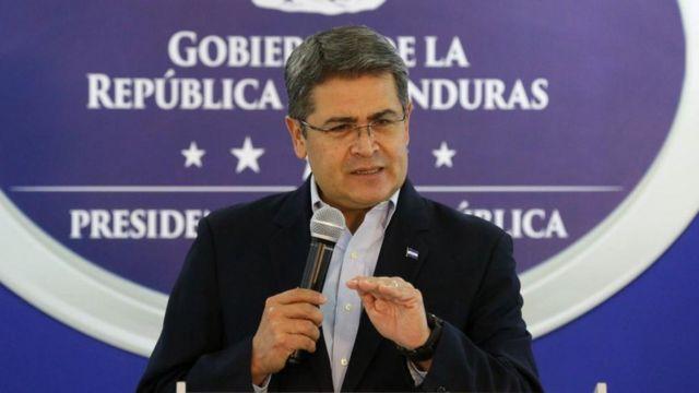 El presidente de Honduras, Juan Orlando Hernández.