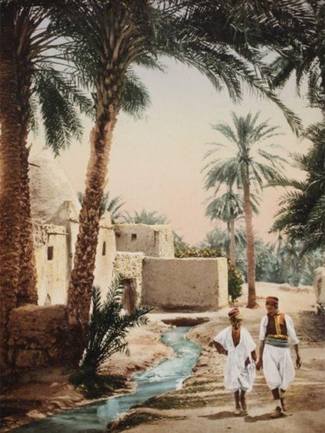 Biskra, Argelia, alrededor de 1900. Swiss Camera Museum Collections