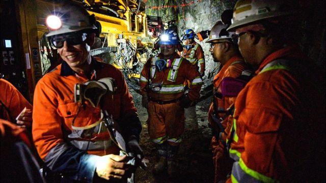 Mineros en México