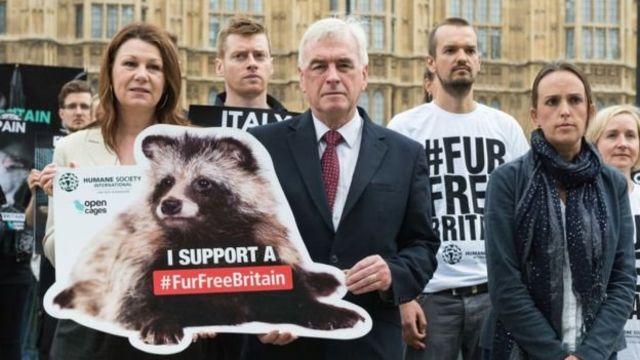 Люди з банерами про захист тварин біля британського парламенту
