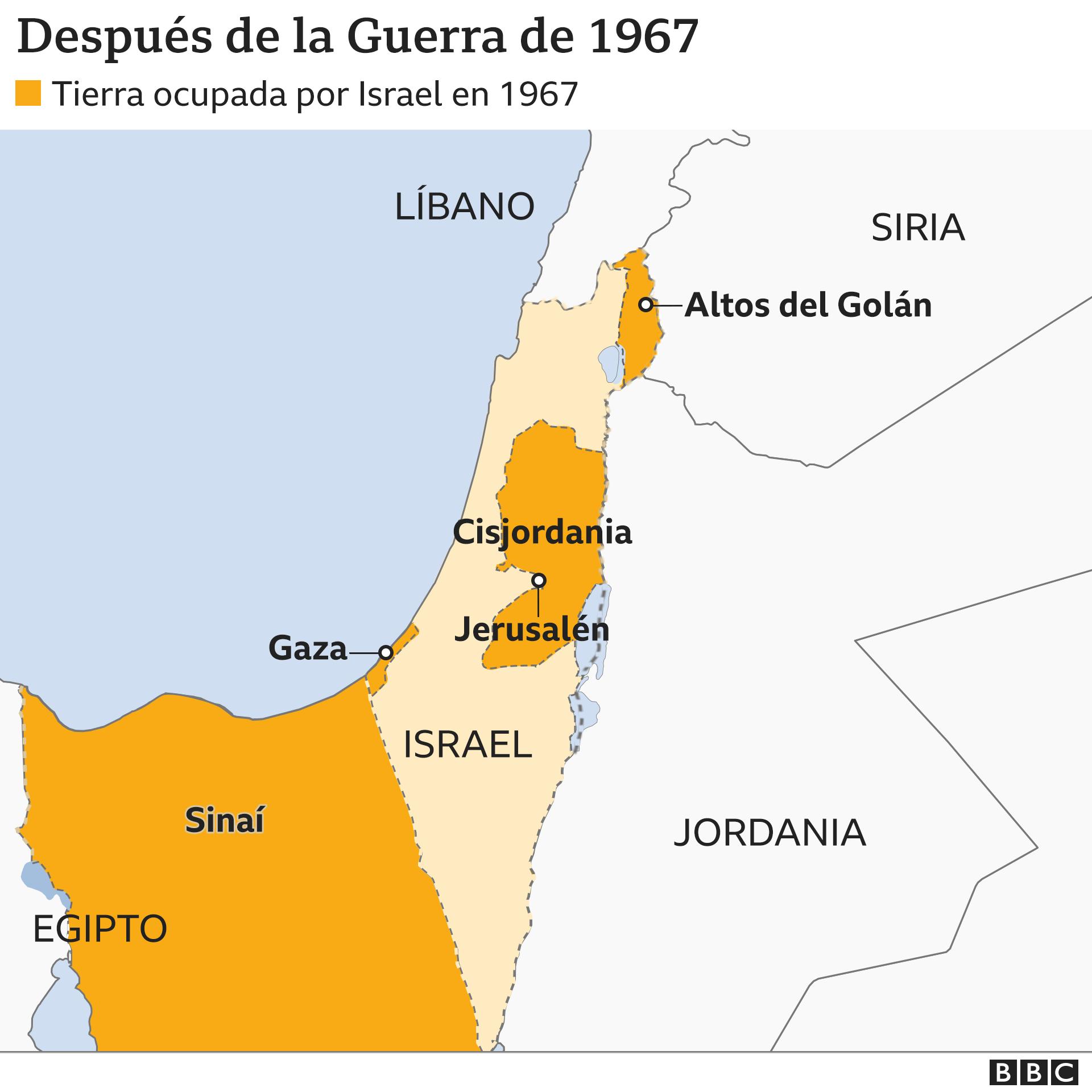 Mapa 4: después de la guerra de 1967