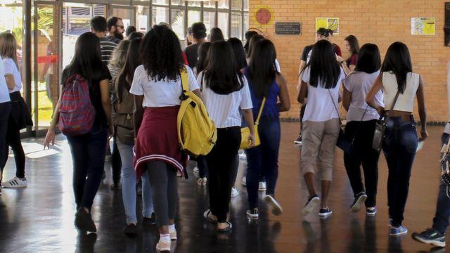 Universitários, em foto de arquivo