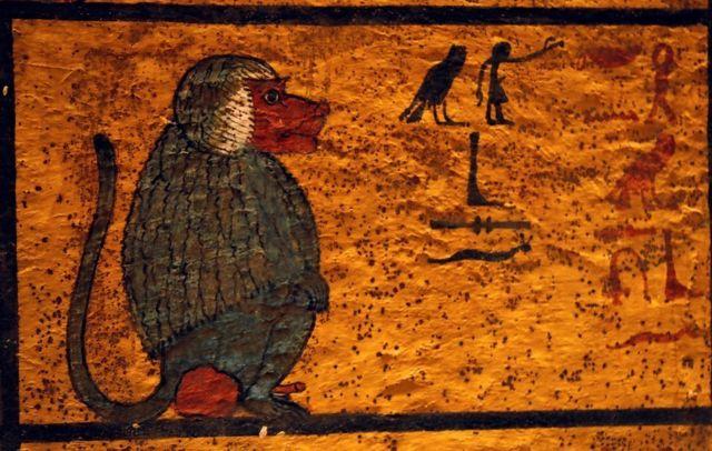 Pinturas en la tumba de Tutankamón.