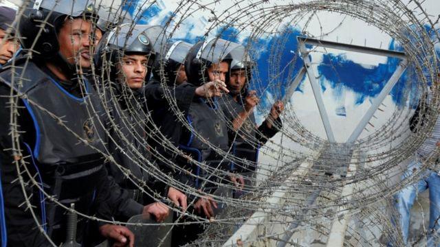 عناصر تابعة لقوات الأمن المركزي في مصر