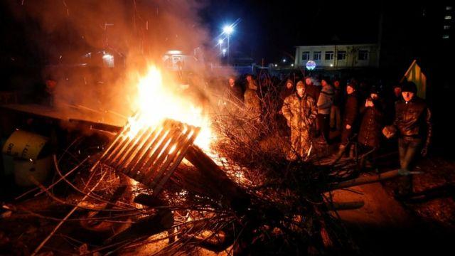 Protesta en Ucrania.