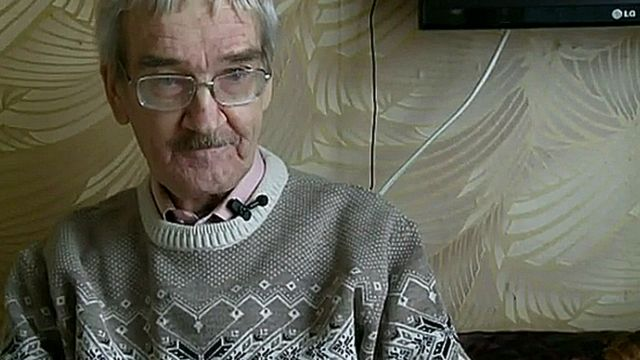 Stanislav Petrov talks to BBC Russian in 2013