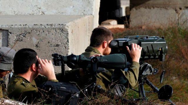صورة لجنود إسرائيين على هضبة الجولان