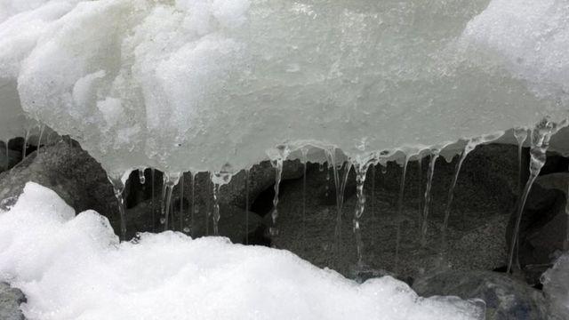 Bloco de gelo na Antártida