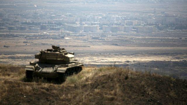 دبابة إسرائيلية في الجولان