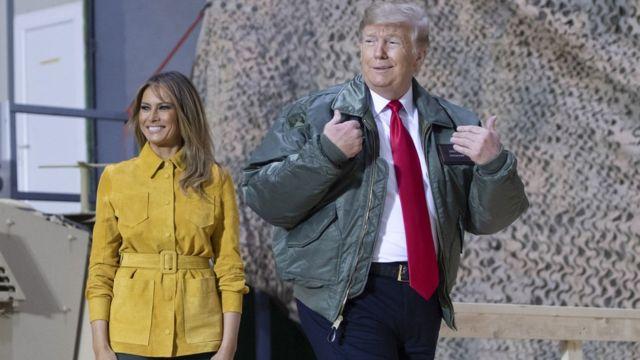ترامب في العراق في زيارة غير معلن عنها