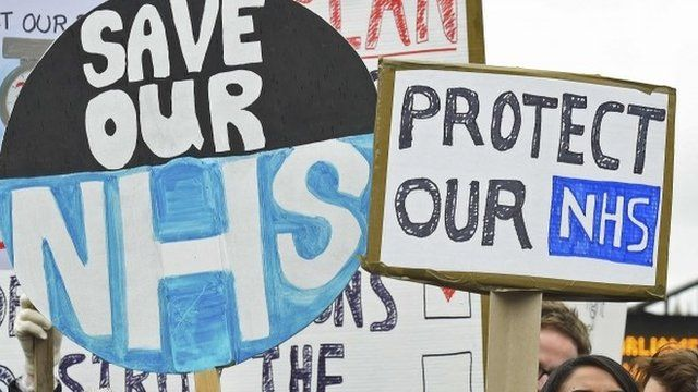 Placards at junior doctor protest