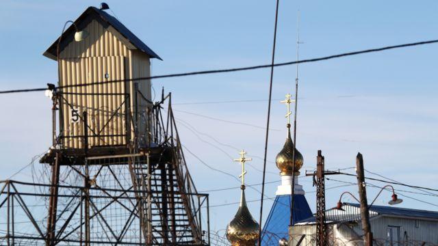 Вышка на территории исправительной колонии №5 в Мордовии
