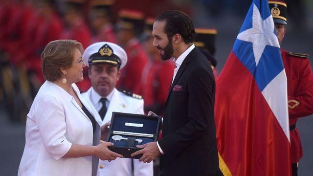 Bukele y Michelle Bachelet