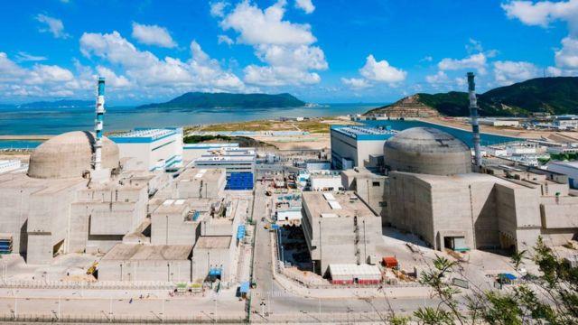 俯瞰中國廣東台山核電站(中新社資料圖片)