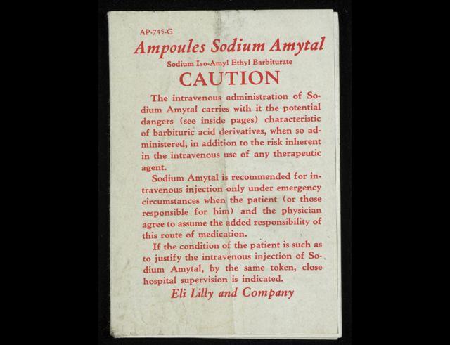 Guía de uso para el amital de sodio