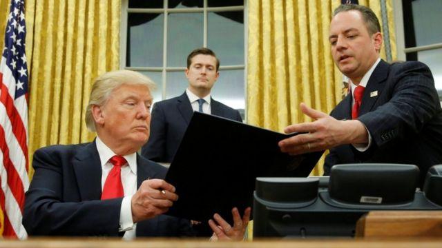 El jefe de personal de la Casa Blanca, Reince Priebus