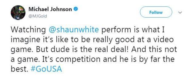 Michael Johnson tweet