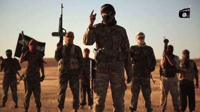 Screengrab from propaganda video purportedly showing Islamic State militants in Iraq (September 2019)
