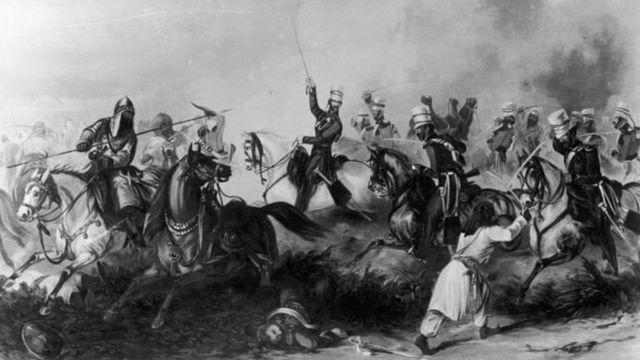 અંગ્રેજો સામે યુદ્ધ લડતા સૈનિકોનું ચિત્ર
