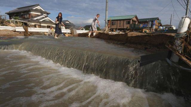 지난 일주일 간 강수량은 7월 한달 평균 강수량의 세 배에 달했다