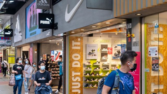 Nike and Adidas stores