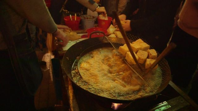 Street food cooking