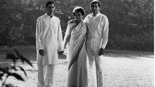 రాజీవ్ గాంధీ , సంజయ్ గాంధీ, ఇందిరా గాంధీ