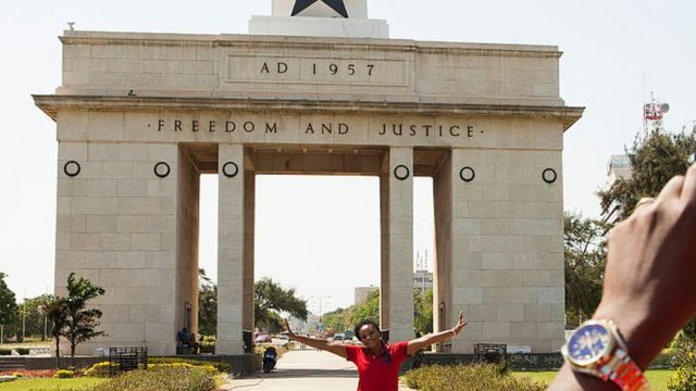 Independence Arch, freedom and justice, Accra, Ghana