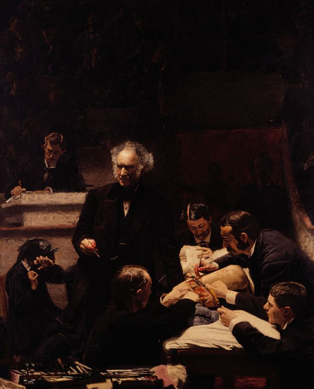 "Quadro ""A Clínica Gross"", de Thomas Eakins"