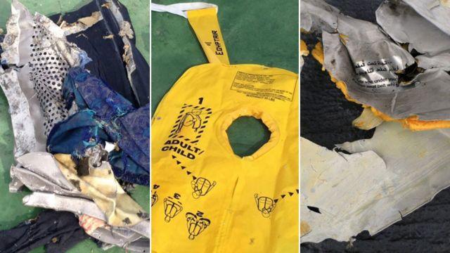 地中海で発見された墜落機の残骸