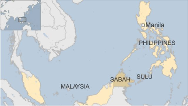 Map of the Philippines and Malaysia