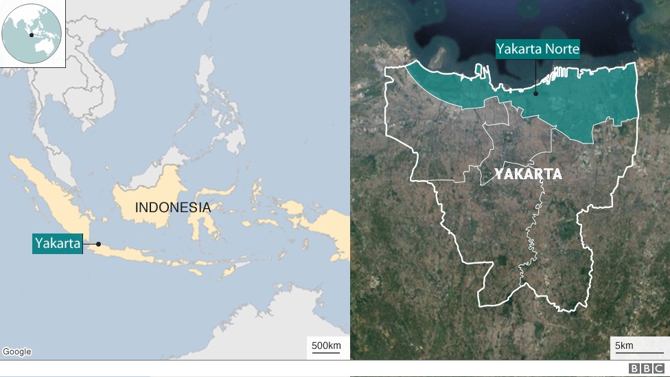 Mapa de Indonesia y Yakarta