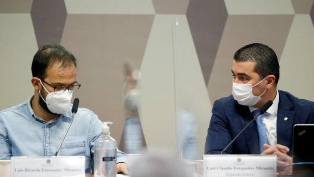 Luis Ricardo e Luis Claudio Miranda em depoimento à CPI